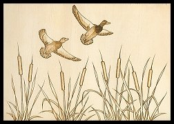 Finished image of Mallards in Flight